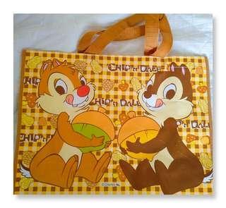🚚 迪士尼環保購物袋 防水手提袋 置物袋 奇奇蒂蒂