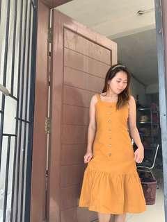 Summer dress in mustard