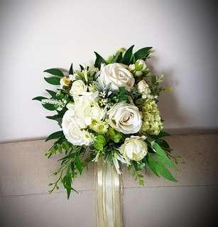 Wedding Flowers, Artificial Bridal Bouquet