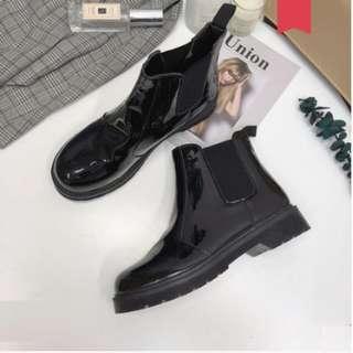 Women Korean Trend Short Tube Wild Thin Winter Martin Boots [Gloss/Matte/Matte Suede/Khaki]