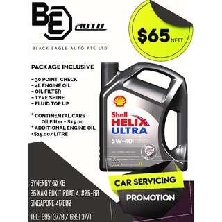 SHELL HELIX ULTRA 5W40 Car Servicing Promotion