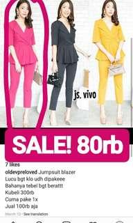 SALE! Jumpsuit party dress atasan velvet zara top