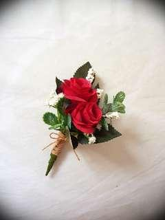 Wedding Flowers, Artificial Spray Rose Boutonnieres and Corsages