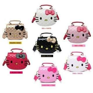 Girl Cartoon Design Cute Hello Kitty Quilt Handbag Tote Bag Sling Bag