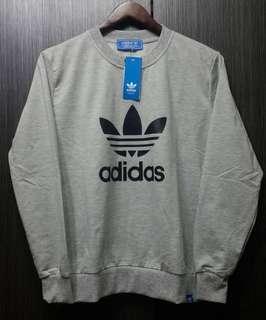🚚 全新正品Adidas三葉 男灰色薄款大學T恤M