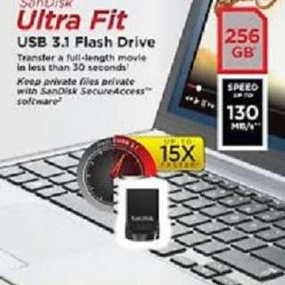 Sandisk usb ultra fit 3.1-256gb