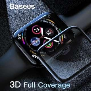 Baseus 0.3mm Full-screen Curved Tempered Film for AP Watch 4 Black