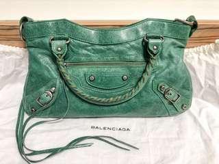 Rare Balenciaga Chevre 2003 Emerald Green