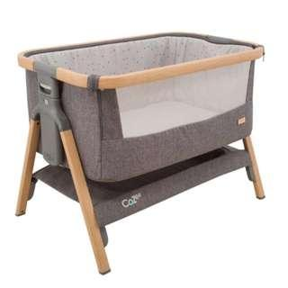 Tutti Bambini CoZee Bedside Co-Sleeper Crib - Oak and Charcoal