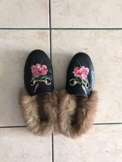 Gucci princetown fur loafers INSPIRED shoes