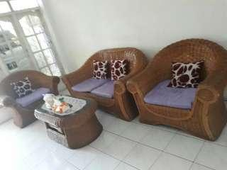 Sofa Ruang Tamu Rotan
