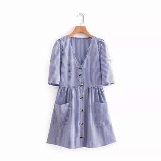 Zara Inspired Dress stripes