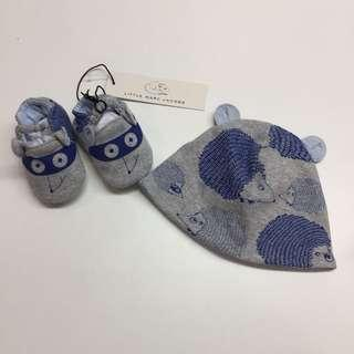 little marc jacobs babe baby beanie shoes 嬰兒帽及鞋套裝