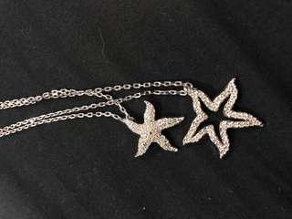 Auth Swarovski starfish necklace