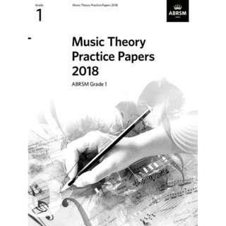Music Theory Practice Papers 2018, ABRSM Grade 1 (ISBN: 9781786012111)