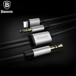 Baseus 2IN1 Audio Cable / Adapter For iPhone 3.5mm Jacks