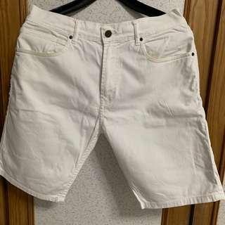 🚚 韓式休閒 雅痞風白色短褲