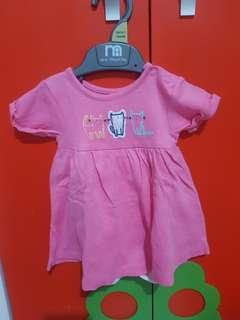 Dress baby pink Mothercare up to 1 month