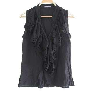 Bangkok Black Ruffle Sleeveless