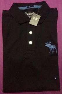 AUTHENTIC NEW A&F RELAXED CUT POLO TEE M SIZE
