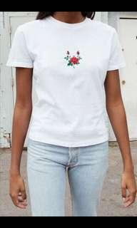 Brandy melville rose embroidery