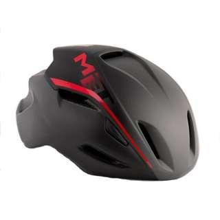MET Manta Road Helmet - Matte Shaded Black / Red