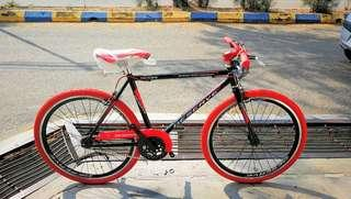 """Basikal Fixie Bike 24""""Inch (Suitable for kid age 10 - 15) Brand New"""