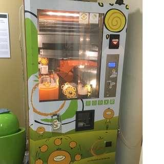 Last Unit Left: Freshly Squeezed Orange Juice Vending Machine