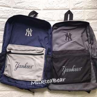🇺🇸🇬🇧直送  New Era NY yankees 刺繡logo  backpack 背囊 (現貨)