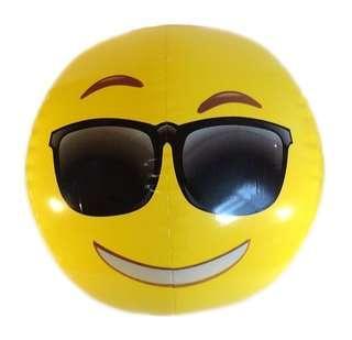 Sunglasses Emoji Smiley Face Beach Ball
