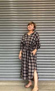 🚚 Zooey假期購入 韓版襯衫洋裝兩穿