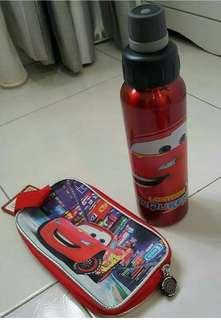 Original Cars lightning McQueen stainless steel tumbler water bottle pencil case