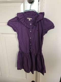 🚚 Purple Esprit Dress 6-7yo
