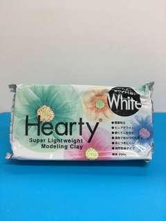 日本Hearty白色輕黏土200g