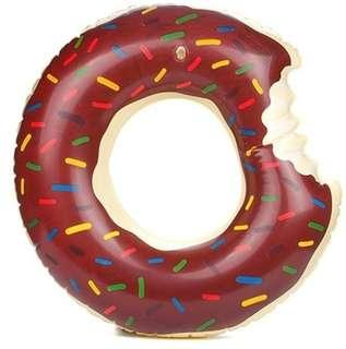 Chocolate Donut Inflatable Floating Swim Ring