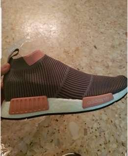 Adidas Grey No Shoelace NMD