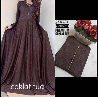 🚚 6 colors jubah long dress (DRESS ONLY)