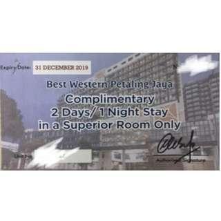 2D1N stay voucher at Best Western Hotel Petaling Jaya (x5 vouchers available)