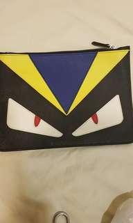 Fendi  sytle  leather clutch bag