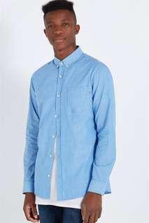 Cotton On Brunswick Shirt - Blue Stripe