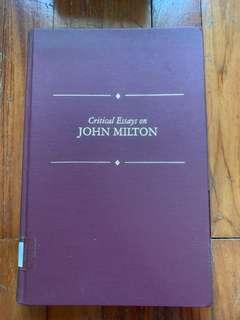 🚚 Critical Essays on John Milton