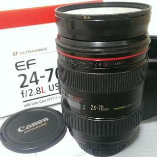 CANON EF 24-70mm F2.8L USM 附B+W保護鏡
