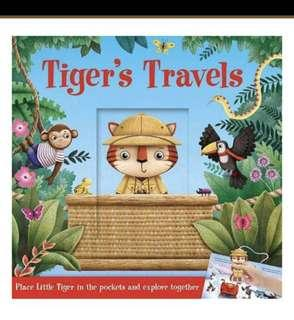 🚚 Tiger travels interactive book fun kid toddler baby adventure