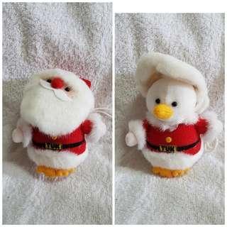 Plush Christmas Duck in Santa Suit Bag Hanger