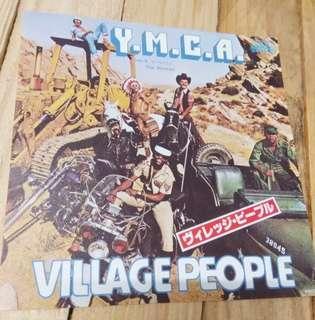 Village People YMCA 7吋細碟 黑膠唱片 $100
