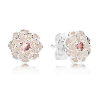 🚚 pandora blooming dahlia stud earrings