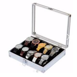 10-12 slot Aluminium Watch Case Brand New