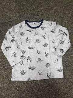 🚚 Squibbles Grey Long Sleeve Dinosaur Tee Shirt Top Size S