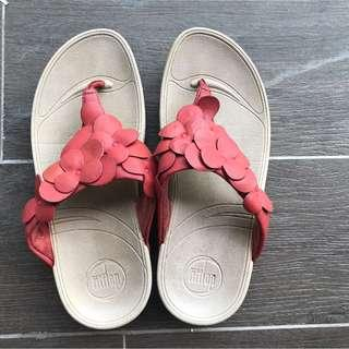 Fitflop Red Floral Design