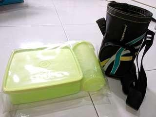 Tupperware water bottle lunch box tumbler holder